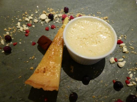 1885 The Restaurant: Yummy pudding with the boozy element  swiftly replaced with lime posset (nyum nyum)