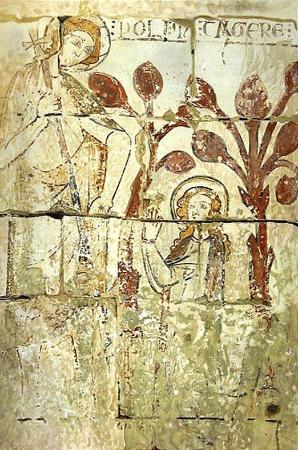 Chateauneuf-sur-Charente, Prancis: Fresques 13é s. Église St Paul de Bouteville