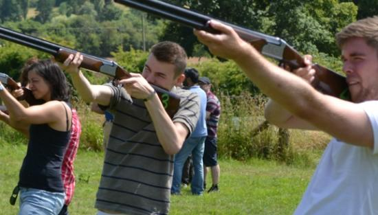 Cradley, UK : Laser Clay Pigeon Shooting