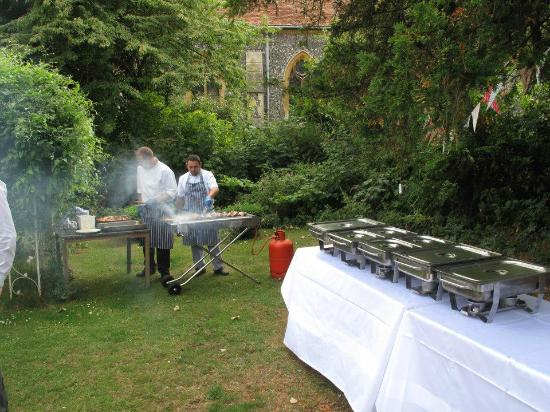 The Elephant At Pangbourne Wedding Breakfast BBQ Being Cooked