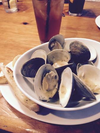 Buckalew's Restaurant & Tavern : Steamed little clams, chicken Pot Pie  Pirate on Mondays