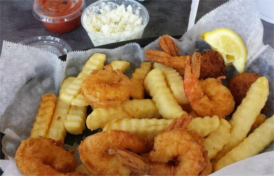 Clam strips basket picture of safe harbor seafood market for Harbor fish market