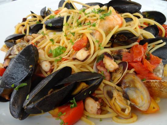 Spaguettis aux fruits de mer photo de di pi nice tripadvisor - Restaurant di piu nice ...