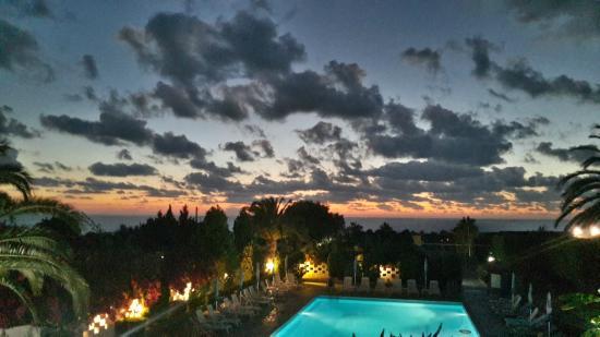 Residence Hotel Felix: tramonto dalla terrazza