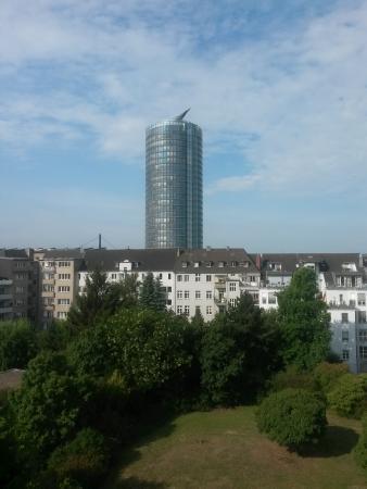 Aussicht Vom Balkon Aufs Ergo Hochhaus Picture Of Hotel