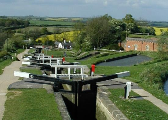 Foxton, UK: The Locks with the BoilerHouse in the Background