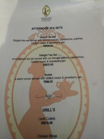 Tea Set Menu Picture Of English Tea House Restaurant