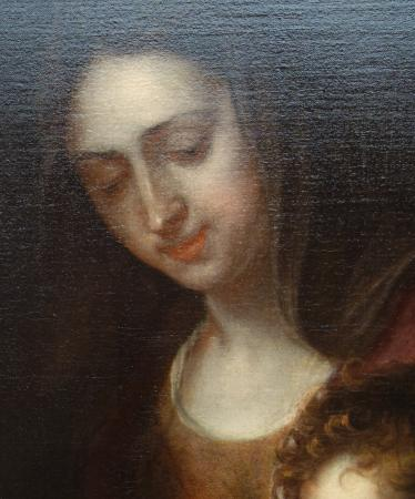 The National Museum of Art of Romania: Frans Ykens and Thomas Bosschaert: Virgin, Child and Infant St. John. Detail