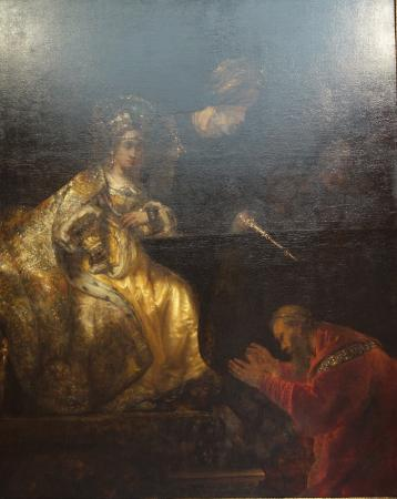 The National Museum of Art of Romania: Rembrandt: Haman Before Esther