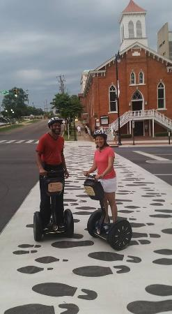 Montgomery, AL: Me and my honey in front of Dexter Avenue Baptist Church.