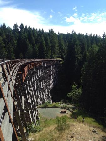 Cowichan Valley trail: It's a long way down