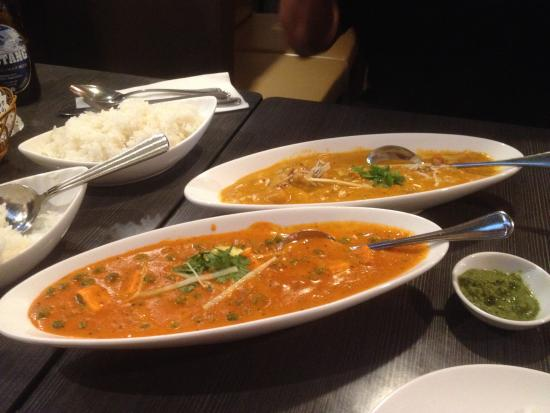 Mutter Paneer And Chicken Korma Picture Of Asian Fusion Restaurant