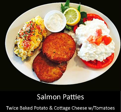 Pig & Chick: Salmon Patties with Sides