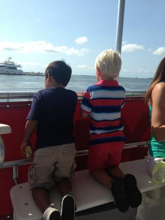 Charleston Water Taxi: Kids love the views from the water taxi!