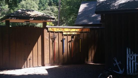 Skamania Coves Resort : inside fence