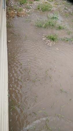 Preston, ID: No grading away from building meant water came right in.