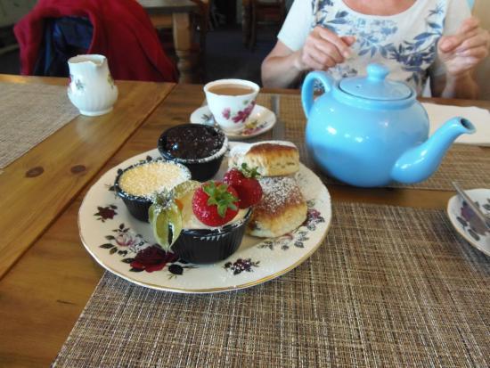 Harbour LIghts Cafe & Restaurant: Tea and scone!