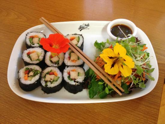 Bookstop Vegetarian Cafe.: Our Delicious Sushi