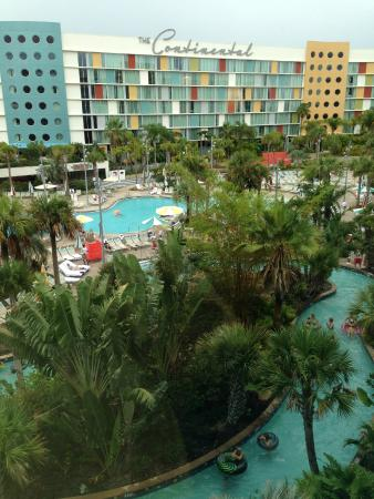 Universal S Cabana Bay Beach Resort View Of Pool And Lazy River From 4th Floor Americana