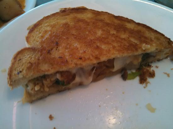 Woodhaven Pancake House: Crab Cake Melt. Delicious!!!!!!