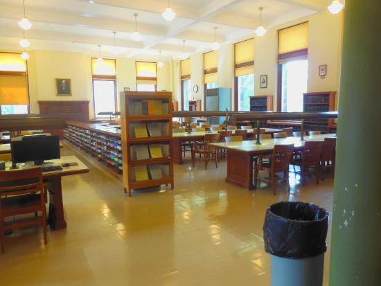 Altgeld Hall Tower: You can study in the Math Library