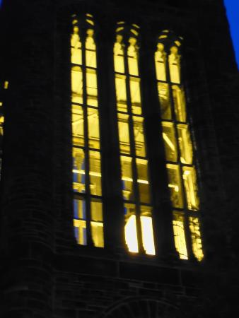 Altgeld Hall Tower: Altgeld Chimes at night.