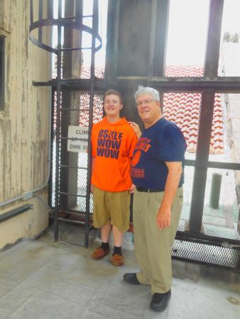 Altgeld Hall Tower: Up Altgelds Tower to better hear the Chimes