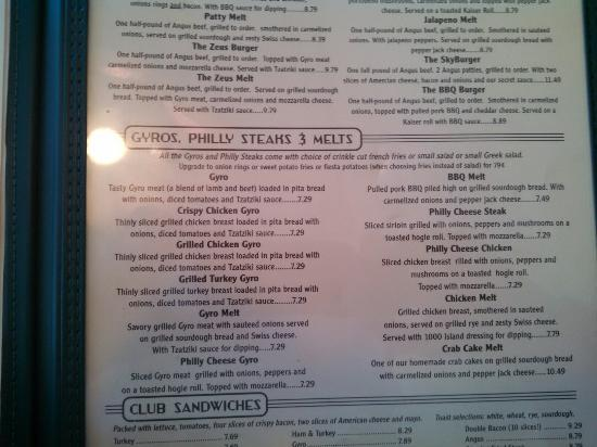 Woodhaven Pancake House Menu