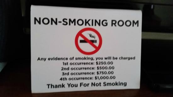 Mardi Gras Casino & Resort : they take smoking very seriously!