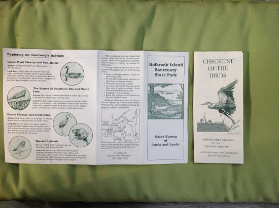 Holbrook Island Sanctuary: Brochures from park. No website that we found.