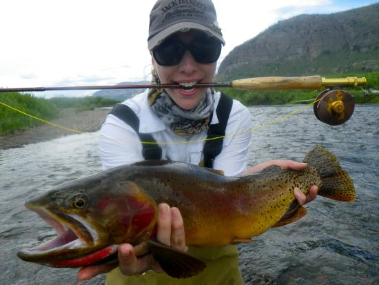 Reel Deal Anglers - Day Trips: A very happy duaghter on a wilderness pack trip