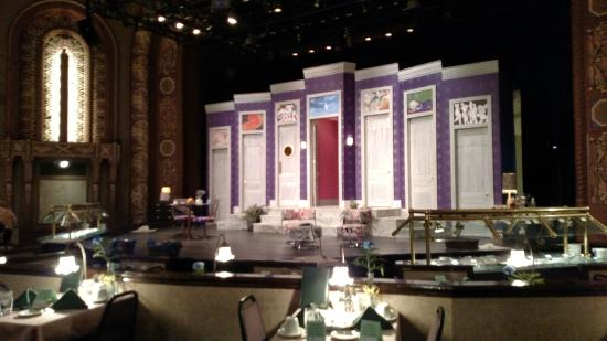 Circa 21: A view of the stage from our seat.