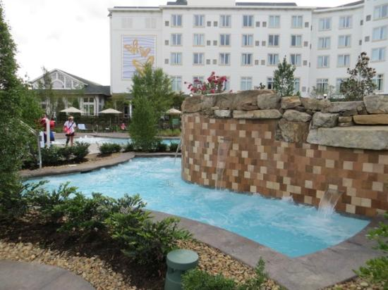 dreammore resort and spa large hot tub with waterfalls