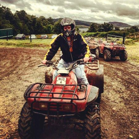 Farr, UK: On the quad bikes