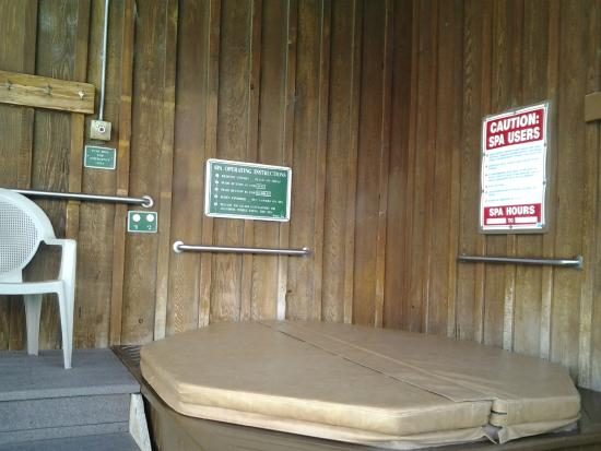 The covered hot tub. It was very clean . - Picture of Winthrop Inn ...