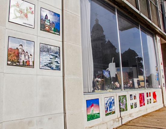 Koka Art Gallery with Courthouse Reflection