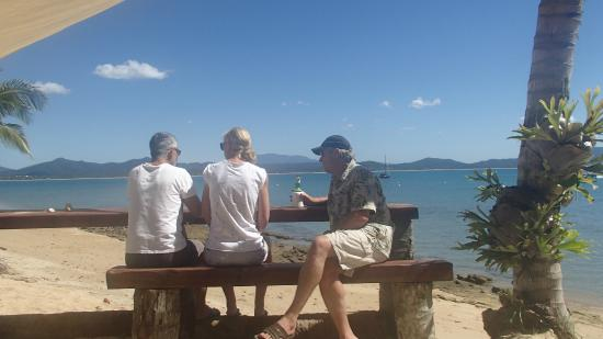 Dunk Island, Australia: Overlooking the boats at anchor