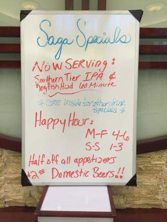 Saga Hibachi Japanese Steak House: Happy Hour Special on Sushi
