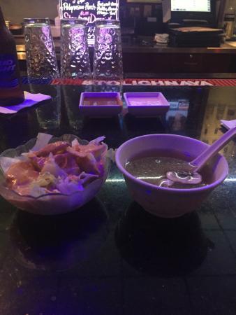 Saga Hibachi Japanese Steak House: Miso Soup and Salad