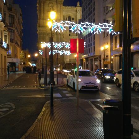 AC Hotel Malaga Palacio: Street scene near Hotel AC Placio Malaga Spain