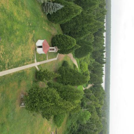 Baileys Harbor, WI: View from top of old oil shed and outhouse