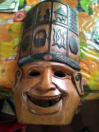 Ifugao Woodcarvers' Village: Carved mask