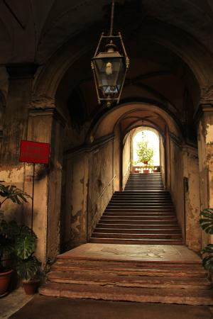 Grand staircase up to Hotel Orientale