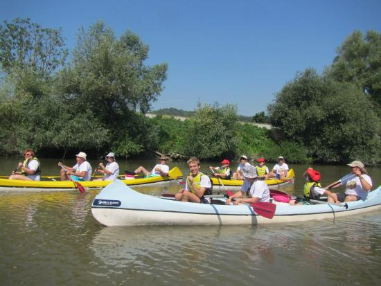 Tirgu Mures, Romania: canoeing on the Muresh river