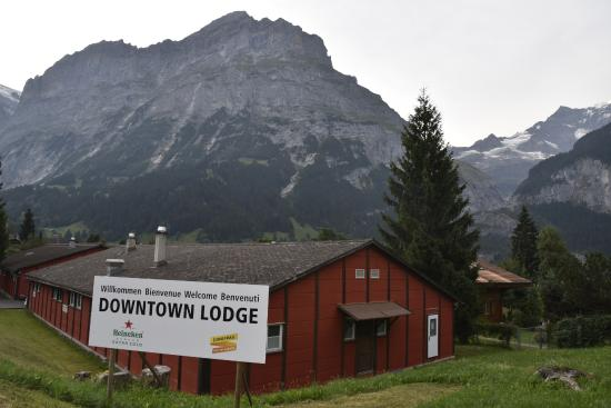 Downtown Lodge: A view of Eiger and the Lodge