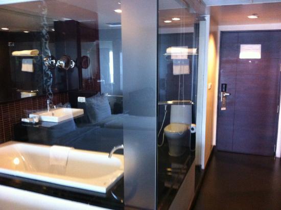 Furama Silom Transparent Bathroom And Toilet