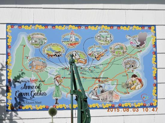 Lucy Maud Montgomery Birthplace: mapas