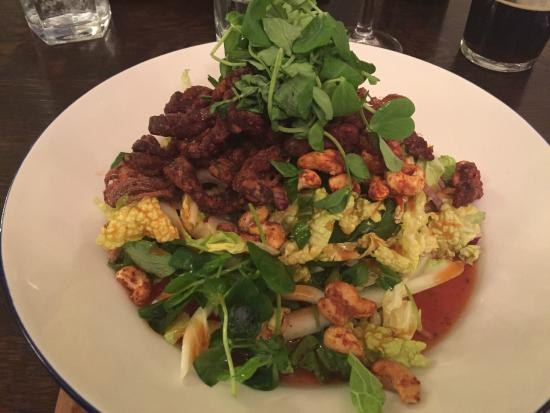 The Architect: Warm crispy beef salad with sweet chilli dressing and cashew nuts
