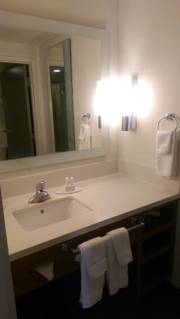 SpringHill Suites Hampton: Sink just outside of the bathroom area