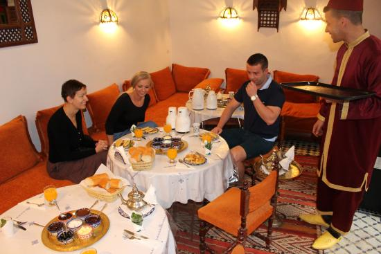 Riad Tayba: breakfast